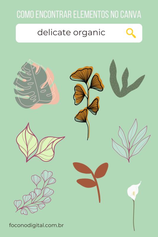 Como encontrar os melhores elementos no Canva para fazer designs incríveis. Use as melhores palavras chave para encontrar elementos no Canva