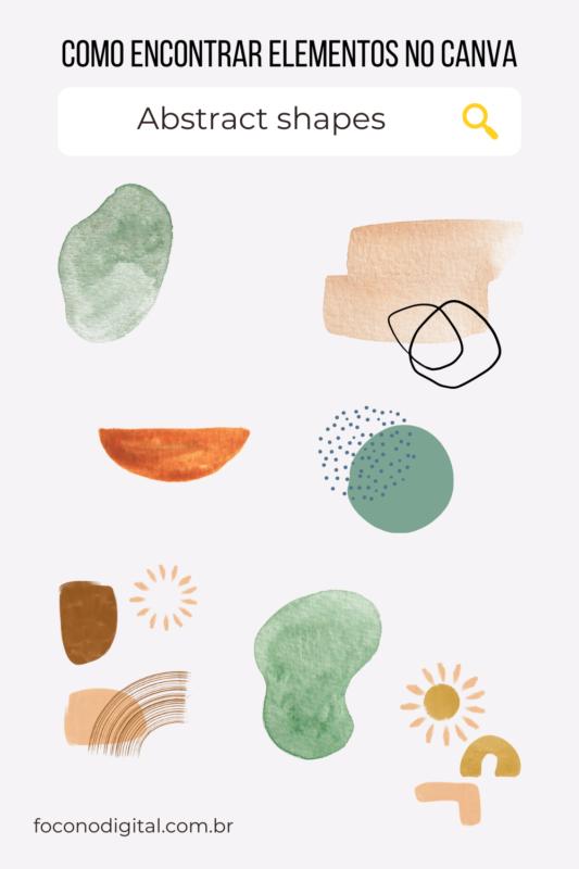 Como encontrar formas abstratas no canva