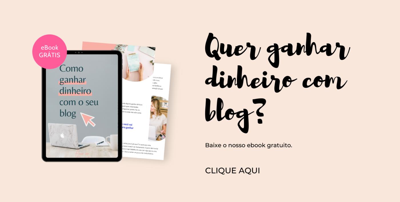 Ebook Ganhar dinheiro blog. Descubra 3 formas de monetizar o seu blog. Baixe agora o ebook completo e 100% gratuito. São 45 páginas que te ensinam o caminho das pedras.
